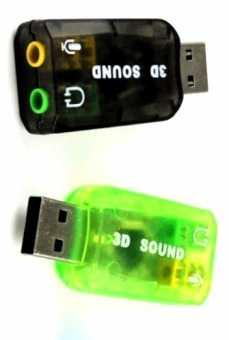 Внешняя USB Аудио Звуковая Карта