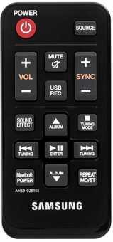 Пульты Samsung AH59-02615A/e и др. акустики - аналоги