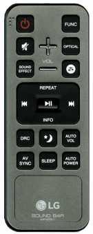 Пульт LG LAS750M /751M/855M/950M, LAS650M sound bar