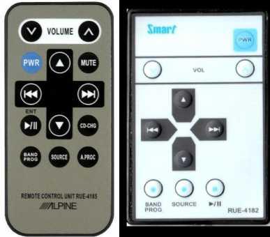 Пульты Alpine RUE-4185, RUE-4182 и др