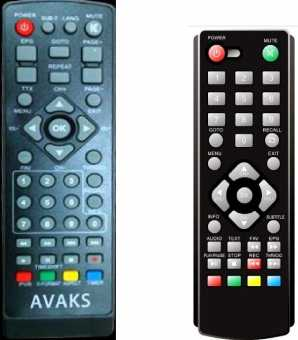 Пульты Avaks DVB-T2 приставок