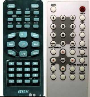 Пульты BBK RC032-01R/-05R/03R, DL9016SI/7016SI и др