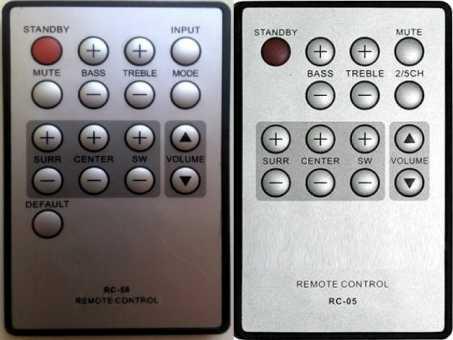 Пульты акустики BBK RC-58, RC-05, RC-02 и др.