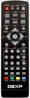 Пульт Dexp HD 1701M...1704M, 1810P...1813P и др. DVB-T2