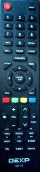 Пульт Dexp VER1.0 ТВ H32F7000K, H32D7300K, H32D7200K и др ТВ