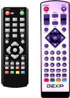 Пульты DEXP AB-116/ 115, ST1204, HD2551P и др. DVB-T2