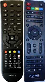 Пульты DIVISAT DVS HD-600T2, DVS-HD100T2  и др.