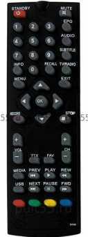 Пульт Doffler DVB-T2M01/M02, DVB-T2P01 и др. dvb-t2