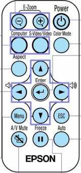 Пульт Epson EMP-S1H  и др проекторов