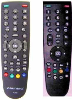 Пульты RC-GD1, RC-A101(RC-YE1) Grundig TV