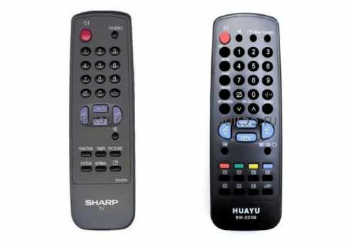 Пульты для Sharp для старых ТВ