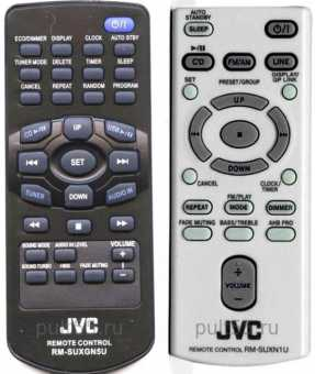 Пульты ДУ акустики JVC