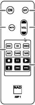 Пульты аппаратуры NAD AMP1, SR8 и др.