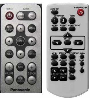 Пульты проекторов Panasonic