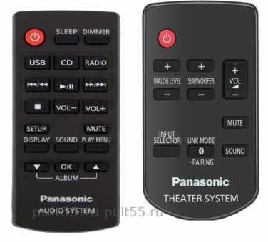 Пульты ДУ Panasonic theater и audio system