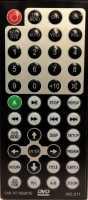 Пульт Intro INT-JS-1340,  JS1710, InСar MMTC-1710 с др. с  DVD, NO:011 в авто