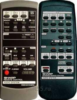 Пульты Sharp audio system
