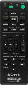 Пульт Sony RM-ANP115 для HT-CT370 и др саундбаров