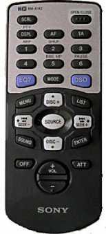 Пульты Sony RM-X142, RM-X110....RM-X113/X116 автомагнитол c HiR