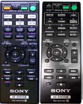 Пульты Sony AV system(дом театров, ресивeров)