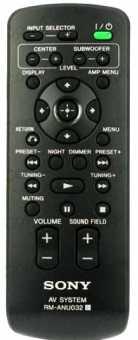 Пульт Sony RM-ANU032 RHT- AV system(дом театров)