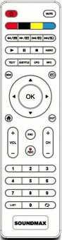 Пульт Soundmax SM-LED32M08 и др ТВ
