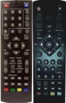 Пульты Tesler DSR-330 и др. DVB-T2