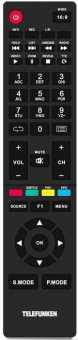 Пульт Telefunken TF-LED32S35T2/ 39S35T2/ 40S10T2, TF-LED50S33T2/ 50S10T2, Hyundai и др. ТВ
